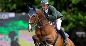 Trevor Breen in action in 2010. He helped Ireland to victory at Hickstead on Sunday. File photograph: James Crombie/Inpho