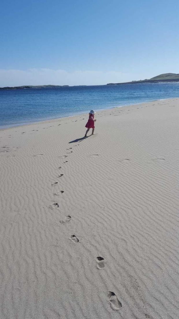 Leave no trace- only little footprints- Inishboffin Island PHOTO: Eucharia Commins