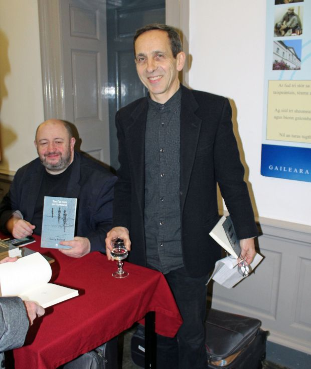 Gerry Boland with his publisher Alan Hayes of Arlen House
