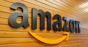 Amazon fell on Monday amid a broader decline in tech stocks. Photograph: Abhishek N Chinnappa/Reuters