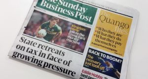 Webprint prints The Sunday Business Post newspaper each week.  Photograph: Bryan O'Brien / THE IRISH TIMES