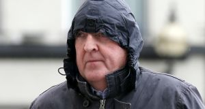 Bartholomew Prendergast (65) arrives at the Central Criminal Court in Dublin today for his sentencing hearing. Photograph:  Collins Courts