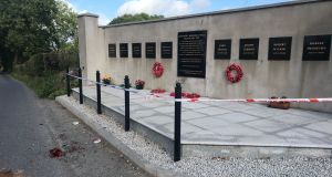 Kingsmill memorial in Co Armagh: the site  has been attacked four times since it was erected in 2013. Photograph: David Taylor/PA