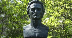 The bust of James Clarence Mangan in St Stephen's Green, Dublin. Photograph: Frank Miller
