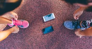 There is a large variety of smartphone apps to keep you motivated and provide valuable feedback on your run. Photograph: iStock