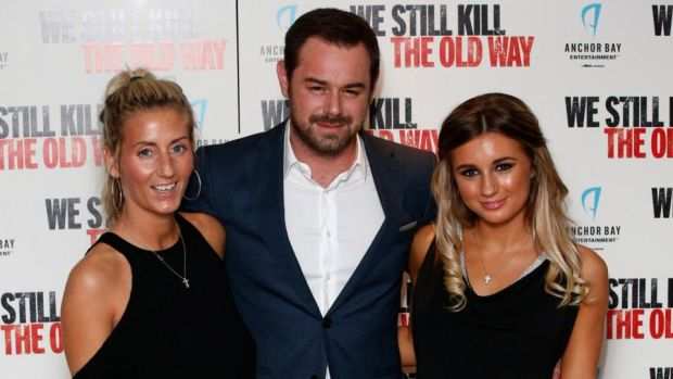 A revealing hard man: Danny Dwyer with wife Joanne Mas and daughter Dani Dyer of Love Island fame. Photograph: Jonathan Brady/PA Wire
