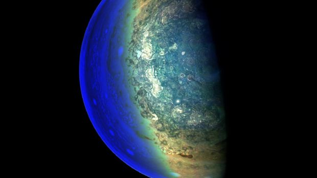 A gas planet: Jupiter as captured by Nasa cameras in March. Photograph: AFP/Nasa