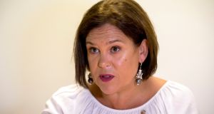"Mary Lou McDonald said on Monday: 'It is my strong preference that we have sequencing that firstly delivers a level of economic and social certainty, in as much we can be certain, and stability and, from that base, we then continue the conversation about Irish unity."" Photograph: Liam McBurney/PA Wire"
