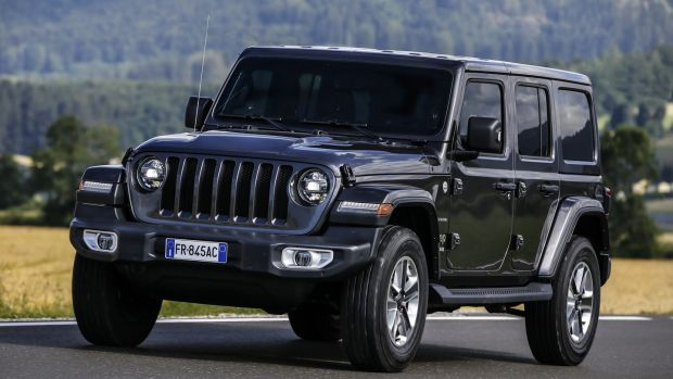 New Jeep Wrangler: all but the most eagle-eyed Jeep acolytes will probably fail to spot that this actually is the new model (the giveaway is the kink in the slope of the radiator grille, which used to be flat)