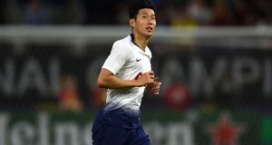Tottenham Hotspur's South Korean midfielder Son Heung-Min in action during their pre-season friendly against AC Milan in Minneapolis. Photo: Stephen Maturen/Getty Images