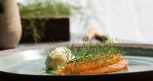 Wild salmon cured in fennel and beer.  Photograph Anita Murphy