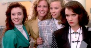 Shannen Doherty,  Lisanne Falk, Kim Walker and Winona Ryder in Heathers