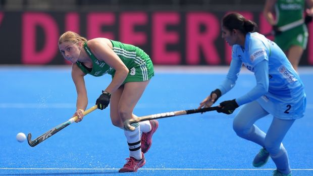 Ireland's Katie Mullan in action against India. Photograph: Joe Toth/Inpho