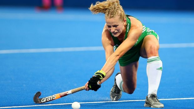 Hannah Matthews in action against England. Photograph: Jack Thomas/Getty Images