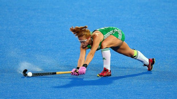 Zoe Wilson of Ireland in action against England. Photograph: Jack Thomas/Getty Images