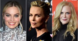 Fox News sex scandal movie: Margot Robbie, Charlize Theron and Nicole Kidman. Photographs: Getty Images