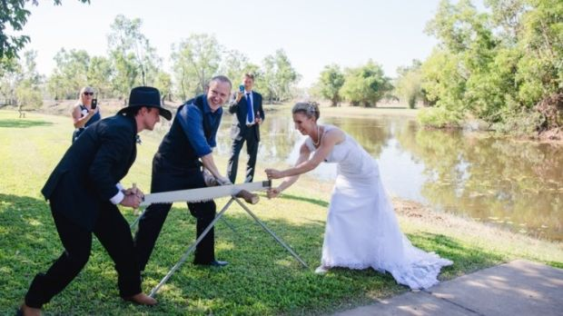 "At a recent wedding, Morgan got the bride and groom to saw through a log for ""symbolic reasons"". You can insert your own symbolism as you see fit"