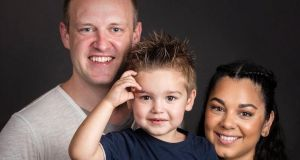 Brian Morgan, his wife wife Kerryn and son Tristan