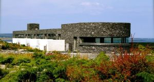 Five minimalist stone and glass rooms at the Inis Meáin Restaurant and Suites provide accommodation for diners.