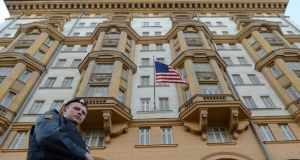 The US embassy in Moscow let the alleged spy go undetected until routine security check in 2016. Photograph: Kirill Kudryavtsev/AFP/Getty Images