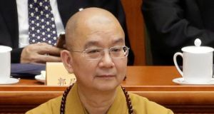 Shi Xuecheng, one of China's leading relgious figures, has been accused of sexual  harrasment and sexual misconduct by nuns of the Longquan Monastery. Photograph:  Jason Lee/ Reuters