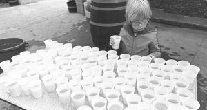 The Times We Lived In: water stop at 1983 Dublin City Marathon