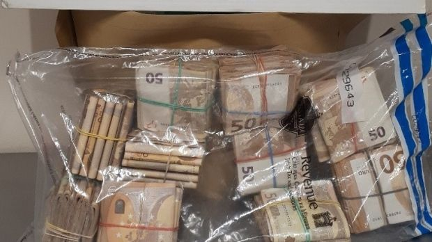 Cash seized at Dublin Airport on Wednesday