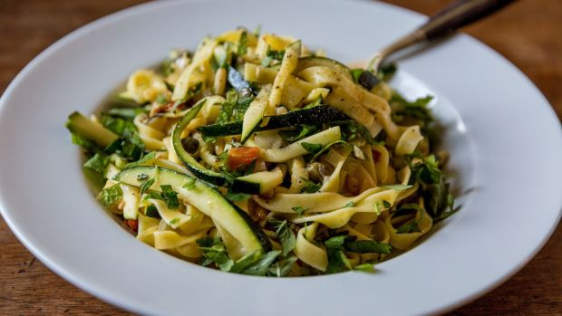 Pasta With Courgettes Lemon Pine Nuts And Herbs