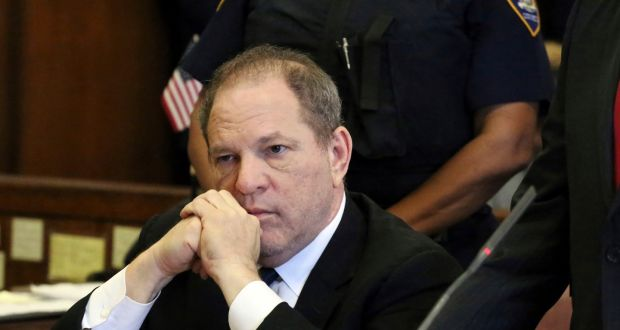 Harvey Weinstein at his arraignment in New York on July 9th. The accusations against him led to the #MeToo movement. Photograph: Jefferson Siegel/The Daily News via AP