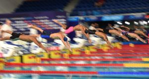 Three Irish swimmers are in action in Glasgow on Saturday night. Photograph: Oli Scarff/AFP/Getty