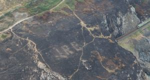 Recent gorse fires at Bray Head have exposed a Second World War era Éire sign that had been covered up for more than 70 years.