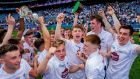 Kildare celebrate winning the All-Ireland U-20 championship final against Mayo at Croke Park. Photograph: Gary Carr/Inpho