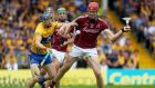 Galway's Jonathan Glynn scores a  goal against Clare during the All-Ireland semi-final replay in Semple Stadium, Thurles. Photograph: Tommy Dickson/Inpho