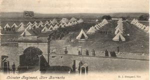 The Leinster Regiment accommodated in tents at Birr Barracks