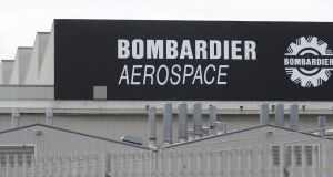 The Bombardier Aerospace plant in Belfast. The company has warned that stockpiling parts to mitigate the impact of a no-deal Brexit could cost the Belfast unit  £30m. Photograph: Niall Carson/PA Wire