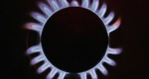 A gas ring on a domestic stove powered by natural gas. Photograph: Christopher Furlong/Getty Images