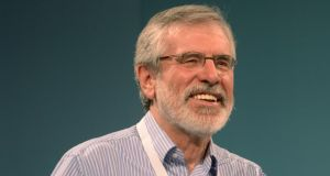 "Gerry Adams: ""The British never fed us . . . But as intrepid republicans and being blessed by one or two great cooks these are the recipes that sustained the Irish negotiating team."" Photograph: Alan Betson"