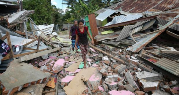 Indonesian earthquake death toll hits 105 with thousands homeless