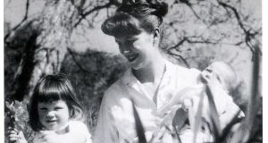 Sylvia Plath with Frieda and Nicholas Hughes in 1962.