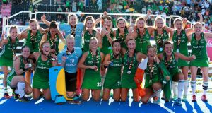 Ireland women have moved up the world rankings from 16th to eighth after their journey to the World Cup final. Photograph: Sean Dempsey/EPA