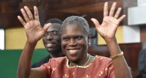Ivory Coast's former first lady Simone Gbagbo was tried and convicted in 2015 fro offences against the state. Photograph: Issouf Sanogoissouf Sanogo/AFP/Getty Images