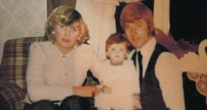 Lisa Lawlor with her parents Maureen and Francis, who were both killed in the Stardust tragedy in 1981. Ms Lawlor, 38, who was just 17-months-old when her parents died, has given her support to a call for a new inquest for the first time. Photograph: Family handout/PA Wire
