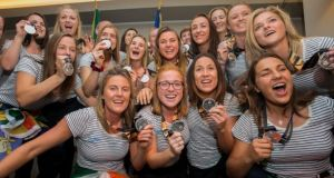 The Irish women's hockey team had a meeting with  Minister for Sport Shane Ross in which he promised them additional funding. Photograph: Gareth Chaney/Collins