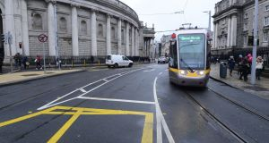 Dublin City Council knew more than a decade ago that it was going to have to do something about the volumes of traffic coming through College Green. Photograph: Cyril Byrne