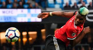 Paul Pogba: Manchester United are hoping the World Cup winner can reproduce the form he showed with France this summer. Photograph: Ben Stansall/AFP/Getty