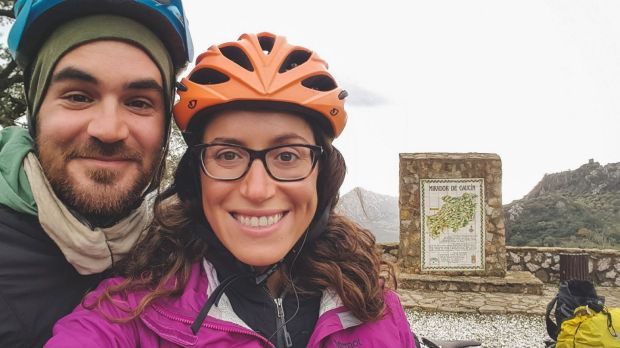 Jay Austin and Lauren Geoghegan in Spain. Photograph: Simplycycling.org via The New York Times