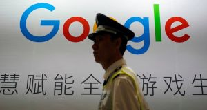 A Google sign at the China Digital Entertainment Expo and Conference in Shanghai. Google is developing a censored Chinese version of its search engine. Photograph: Aly Song/Reuters