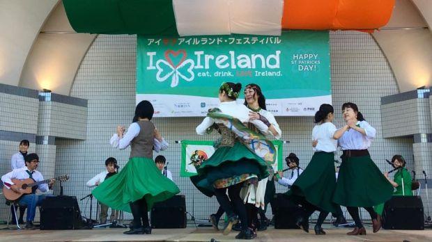 Musicians playing at a St Patrick's Day event in Tokyo. Photograph: Comhaltas Ceoltóirí Éireann Japan