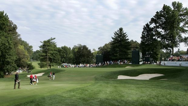 The 15th – shown here during the 2008 BMW Championship – is one of the toughest holes on the course. Photo: Stan Badz/PGA TOUR