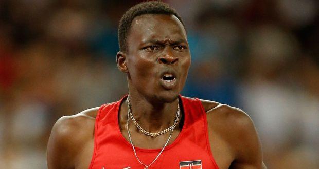 Kenyan Former 400m Hurdles World Champion Nicholas Bett Who Has D Aged 28 Photograph